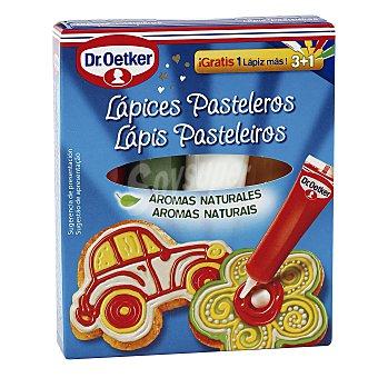 Dr. Oetker Lápices Pasteleros con colores y aromas naturales 3 unidades (57 gr)