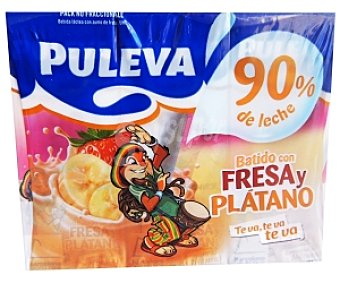 Puleva Batido Fresa-Plátano Pack 6 brik x 200 ml