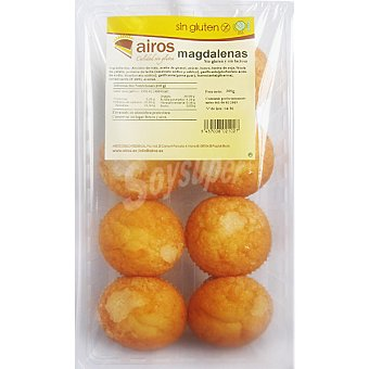 Airos Magdalenas sin gluten Paquete 300 g