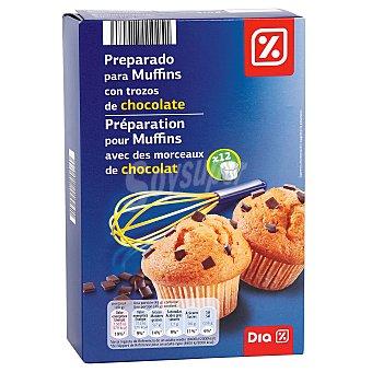 DIA Preparado para muffins con pepitas de chocolate Caja 300 gr