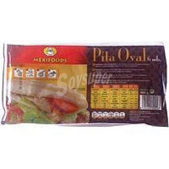 Mexifoods Pan pita oval paquete 6u 480 gr