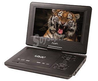 """Aura Reproductor DVD portátil multiformato, pantalla giratoria de 22,86 cm (9""""), lector de tarjetas SD, USB reproductor DV19"""