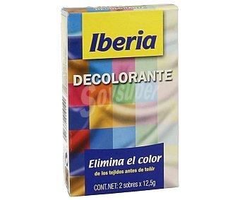 Iberia Decolorante (elimina el color de los tejidos antes de teñir) 2 sobres de 12,5 g