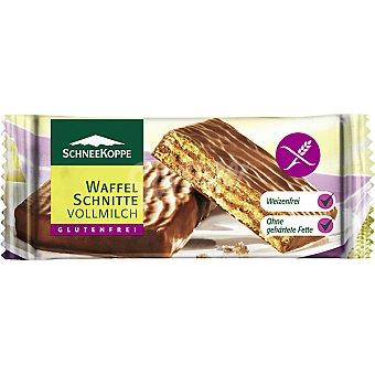 SCHNEEKOPPE barquillos de chocolate con leche sin gluten envase 42 g