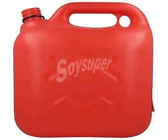Cartec Bidón de 5 litros, homologado y resistente plástico de color rojo CARTEC. 5 litros