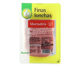 Productos Económicos Alcampo Mortadela sin gluten cortada en finas lonchas 180 gr