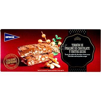 Hipercor Praliné de chocolate con frutos secos estuche 300 g