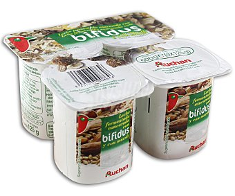 Auchan Yogur bifidus con muesli Pack 4 unidades de 125 gramos