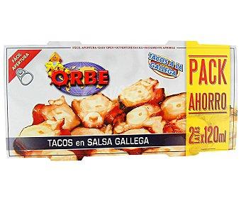 Orbe Bipack calamar en tacos salsa gallega 114 gramos