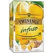 Infuso infusión de jengibre y limón Estuche 20 bolsitas Twinings