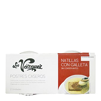 Los Vazquez Natillas con galleta Pack 2x180 g