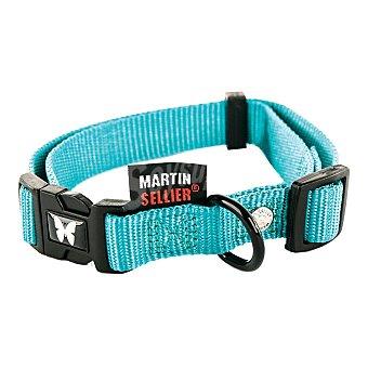 Martin Sellier Collar nylon para perro color turquesa 10mm-20/30cm 1 unidad