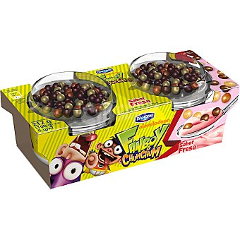 Danone Yogur sabor fresa con confites de chocolate Diver Mix Pack 2 unidades 106 g