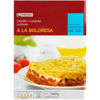 Eroski Lasaña boloñesa fresca 250g