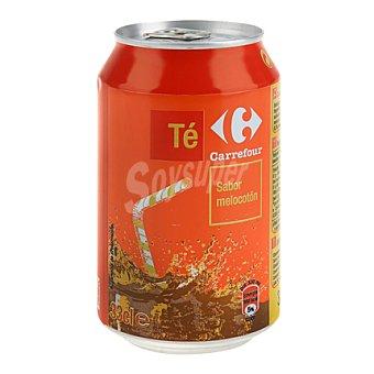 Carrefour Refresco de té al melocotón blanco 33 cl
