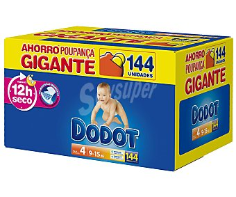 Dodot Pañales talla 4 para bebés de 9 a 15 kilogramos 144 unidades