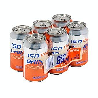 Hacendado Bebida isotonica naranja Lata pack 6 x 330 ml - 1980 ml
