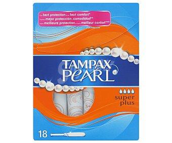 Tampax Tampón pearl superplus Caja 18 unid