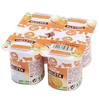 Carrefour Yogur sabor galleta Carrefour Classic' Pack de 4 unidades de 125 g