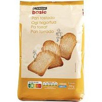 Eroski Basic Pan tostado normal 30 rebanadas 270 g
