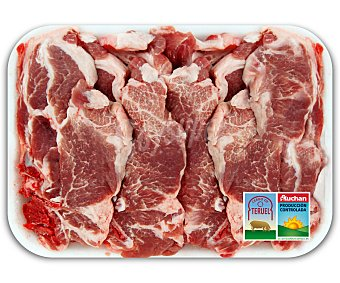 Auchan Producción Controlada Chuletas de aguaja de cerdo de Teruel 500 Gramos