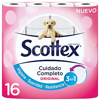 Scottex Papel higiénico original Paquete 16 u