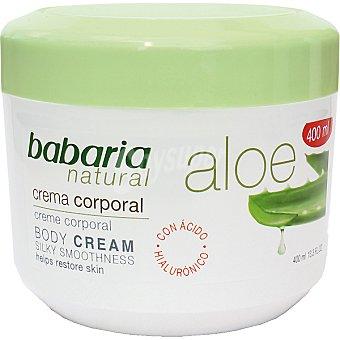 Babaria Crema corporal de aloe Caja 400 ml