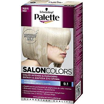 Schwarzkopf Palette Tinte nº 9.1 Rubio Perla color intenso y duradero Salon Colors Caja 1 unidad