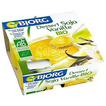 Bjorg Postres de soja vainilla estuche 500 g Pack 4x125 g