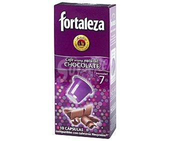 Fortaleza Café con aroma chocolate en monodosis 12 unidades
