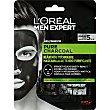 Mascarilla de tejido purificante charcoal Pack 1 ud L'Oréal Men Expert