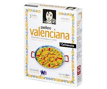 Carmencita Preparado de Especias para Paella Valenciana 5 Sobres 12 Gramos