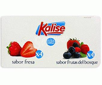 Kalise Yogur Sabor fresa/frutas del Bosque 8x125g