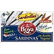 Sardinas picantes en aceite vegetal 6/8 piezas Lata 63 gr Boya