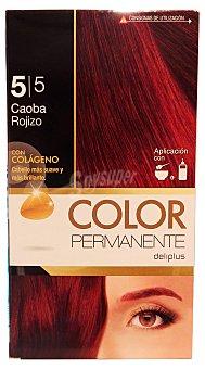 COLOR PERMANENTE Tinte coloración permanente Nº 5,5 caoba rojizo (contiene colágeno para hidratar) 1 unidad