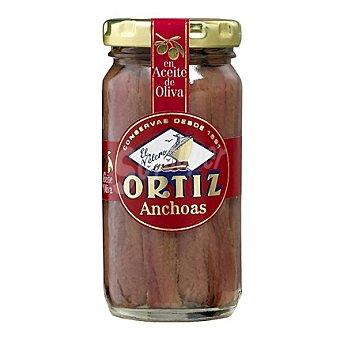 Conservas Ortiz Anchoas del Cantábrico en aceite de oliva 'El Velero' 95 g