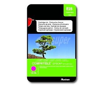 Auchan Cartucho Magenta T0443 (E25) - Compatible con impresoras: epson Stylus C64 / C66 / C84 / C84N / C84WN / C86 / CX3600 / CX3650 / CX4600 / CX6400 / CX6600