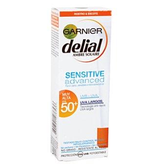 Delial Garnier Sensitive advanced protector facial muy alta spf 50+ Tubo 50 ml