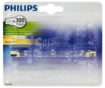 Philips Bombilla ecohalógena lineal 240 Watios, con casquillo R7S y luz cálida 1u