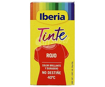 Iberia Tinte para ropa Rojo 40ºC sobres 2 ud