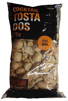 Hacendado Cocktail frutos secos tostados sin sal (cacahuete, anacardo, coquito, nuez macadamia, avellana) Paquete 175 g