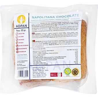 Adpan Napolitana de chocolate sin gluten 2 unidades envase 105 g 2 unidades