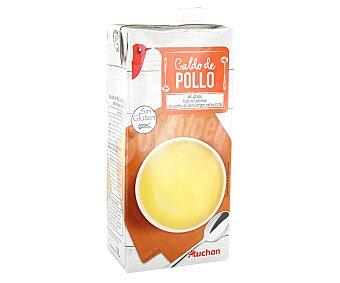 Auchan Caldo de pollo,, brick 1 litro