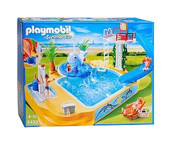 Playmobil Playset Piscina de Niños con Fuente de Ballena, Modelo 5433 1 Unidad