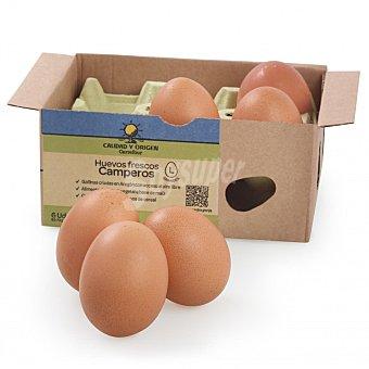 Calidad y Origen Carrefour Huevos L camperos 6 ud Blister 6 ud