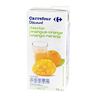 Carrefour Discount Néctar de naranja y mango Brick de 1 l