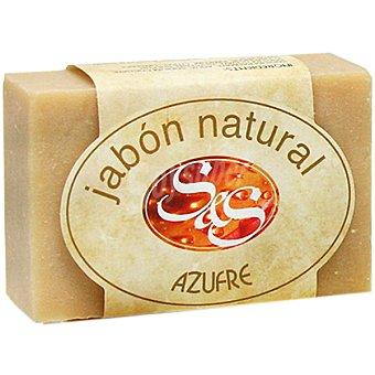 Sys Pastilla de jabón natural de Azufre Pastilla 100 g