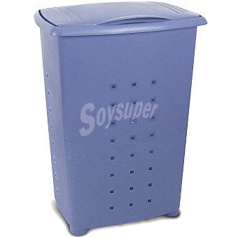 TATAY Millenium Cesto de ropa de plástico con tapa azul 65 l 65 l