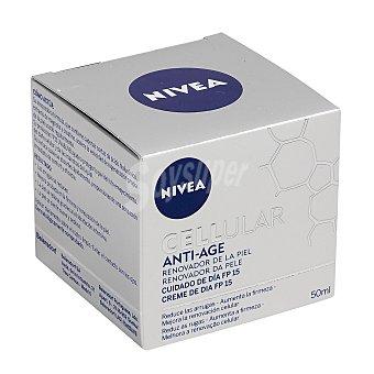 Nivea Crema de día FP-15 con activadores celulares tarro 50 ml reduce las arrugas y mejora el tono de la piel Celular Anti-edad Tarro 50 ml