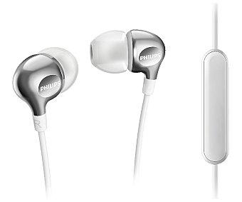 Philips Auricular tipo intrauditivo SHE370 con cable, con micrófono, blanco
